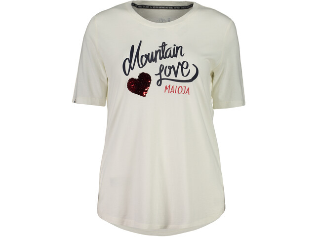 Maloja CasacciaM. Bluzka z krótkim rękawem Kobiety, vintage white